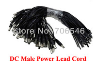 DC Power Lead Male cable pigtail for CCTV camera power For CCTV Cameras / Power Express 500pcs / Lot Free Shipping wholesale