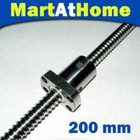 New MAH Anti Backlash Ball screw RM SFU1605 200mm C7 for XYZ CNC + ball screw nut and end machined #SM112 @CF