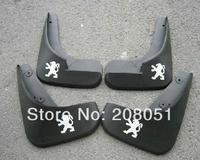 free shipping! PEUGEOT 206 plastic fender splash guard mudguard  4pcs