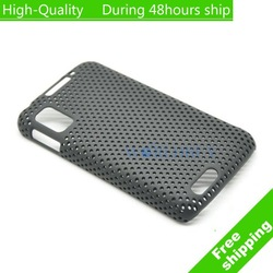 High Quality Hole Back Cover Hard Case for Motorola Atrix MB860 Free Shipping DHL UPS EMS HKPAM CPAM(China (Mainland))