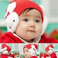 Sunshine Store  #2C2507 5 pcs/lot (5 colors) baby rabbit hat ! girls winter hats infant cap rabbit beanies  CPAM