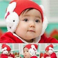 Sunshine Store  #2C2507 5 pcs/lot (5 colors) baby rabbit hat ! girls winter hats infant cap rabbit beanies  CPAM