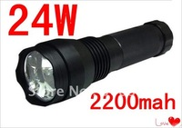 Wholesale- promotion price 24W HID Flashlight 2000 lumen's xenon light