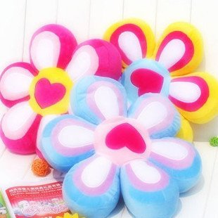 Candice guo! Hot sale 10% off colorful flower shaped cushion holding pillow stuffed toy home decoration 40cm 1pc(China (Mainland))