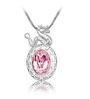 Free Shipping Factory wholesale hot sell fashion style chinese Zodiac crystal necklace,4pcs/lot