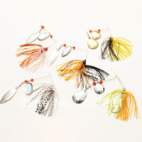 5pcs Buzzbait Fishing Skirts Lures Baits Spinnerbait 0.42oz