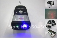 5PCS portable green red laser stage lighting,laser show system 3blue LEDs twinkle star+free shipping