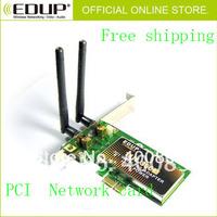 Free shipping!EP-9601 EDUP 300M 11N PCI Express wireless Lan card