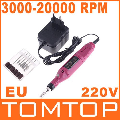 Electric Nail Drill / Professional electric Nail drill Manicure machine(220V,EU Plug),  Free Shipping, Dropshipping