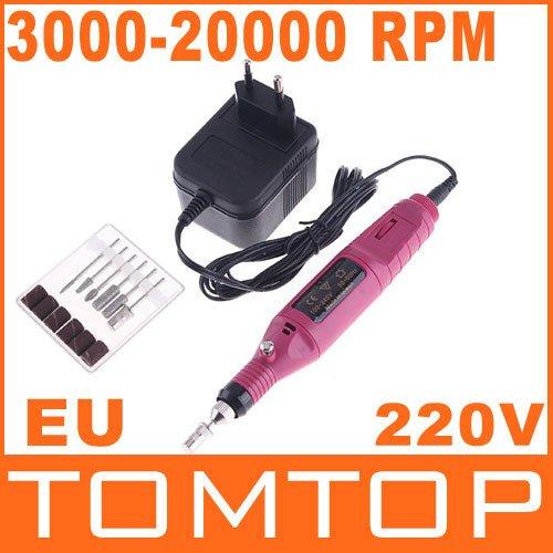 Electric Nail Drill / Professional electric Nail drill Manicure machine(220V,EU Plug),  Free Shipping, Dropshipping