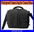 Free Shipping Waterproof  DSLR Nylon Camera Bag for Canon Camera 50D 60D 450D 550D+Free Waterproof Cover(B85)
