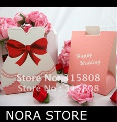 50pairs/lot wedding decoration Tuxedo and Gown Favor Box /Wedding candy boxes/Wedding gift box(China (Mainland))