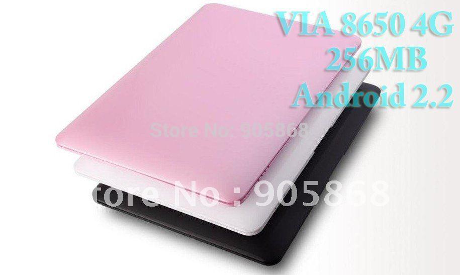 "CV- computer VIA8650 Android 2.2 4G 256MB 10"" WiFi mini computer laptop Netbook(China (Mainland))"