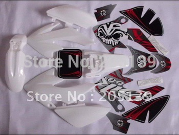 NEW 3M monster graphic decals sticker & full plastic white for honda motocross dirt pit bikes parts CRF50-3