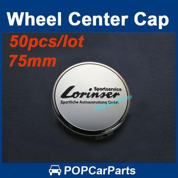 Free Shipping 50pcs Silver Lorinser Car Wheel Center Cover Badge For Mercedes Benz, 75mm Centre Hub Cap Emblem Badges