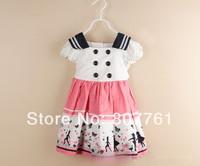 New 2014 sleeveless girl dress, casual summer princess dress ,Children Clothing 5pcs/lot