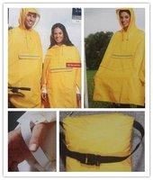 Cycling Poncho Bicycle Rainwear Bike Unisex Raincoat Rain Cape yellow