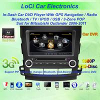 Mitsubishi Outlander 2006- 2011 GPS Navigation DVD Player+bluetooth with A2DP,Ipod
