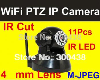 Free Shipping,IP Camera,wireless camera,ip wireless camera,network, PT IP network Wireless Camera with IR-CUT,1pcs