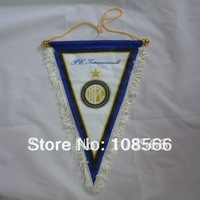 Wholesale Inter Milan  pennant / appealing white football  flag