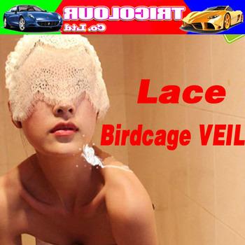HK POST FREE!!! Sexy Lace Birdcage VEIL Halloween Christmas Party mask Dress up Black 10pcs/lot #LS11