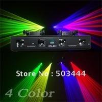 Fast Ship 4 Color 4 Lens RGYV Laser Light DMX Disco DJ Stage Equipment