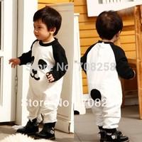 4pcs-Baby Boys New Cute Animal Panda One Piece Romper kids children spring autumn 100% cotton Jumpsuits toddler kids costume 146