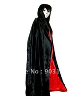 Wholesale 5pcs Halloween mask masquerade super white halloween mask+dress Cloak terror + free shipping