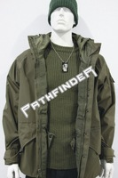 2012 Military Style ECWCS Parka Hoodies Jackets for Men Outdoor Waterproof&Windproof Fabric Green/ACU/Desert Color Free shipping
