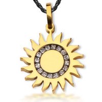 Bahamut The Sun God Phoebus Apollo Gold Silver Titanium Necklace Pendant mythology jewelry