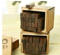 Free Shipping/28 pcs/set Creative uppercase,lowercase stamp set/wooden stamp/wooden box/Decorative DIY funny work/Wholesale