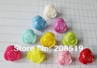 NB020 Mix colors 10mm 600pcs rose shape plastic buttons flower buttons for children garment