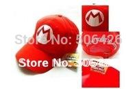 free shipping Super Mario Bro Anime mario Hat Kids Cap Cosplay New 2colors choose mario cap