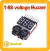10pcs Lipo Battery Voltage Tester volt meter monitor checker Dual Speaker 1S-8S Low Voltage Buzzer Alarm 2 IN1 2S 3S 4S 6S 7S 8S
