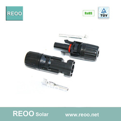 Solar pv connector,mc4 solar power connectors, rated current 30A,PPO insulation, Copper,tin plated(China (Mainland))