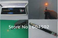 1pec yellow laser pointer pen 2mw 589nm laser machine +free shipping
