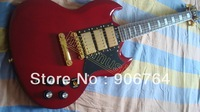 New guitars G400 electric guitar SG  red finish 3 pickups humbacker free shipping rosewood fret