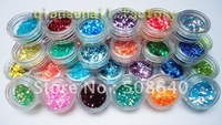 Excellent Quality Acrylic Tips Plastic Material 45colors Hexagonal Sequins Decoration For Nail Art Desgin Beauty Products 045B
