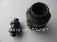 "hot sale 1"" upvc double ball check valves"
