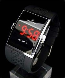 1PCS Intercrew LED Watch Sports Display Man Digital Electronic Watch Wholesale(China (Mainland))