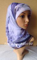 03246 arab Scarf muslim Hijab women Shawls  Scarves higher quality prented Chiffon Square Scarf 100% guarateed,free shipping