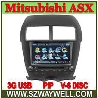 Waywell 8 inch MITSUBISHI ASX RVR 2 Din HD Car DVD headunit with GPS Bluetooth/Radio/TVIpod+3G+Free 4G Card with map Navitel map