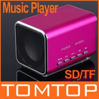 Micro SD/TF Music Player Rose Mini Speaker for Laptop iPod,Free Shipping+Drop Shipping wholesale