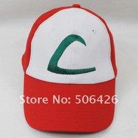 free shipping Pokemon Pikachu Ash Katchum Hat Cap Cosplay Anime Baseball cap 1pcs