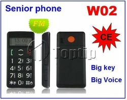 Free shipping W02 big voice big button old mobile phone ,cheap cellular phone,unlock phone(China (Mainland))
