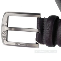 Free shipping 2011 New-Men's Septwolves Belts 100% Genuine Leather  brown 7A1207100 hot selling!