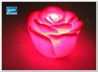 Free shipping wholesale 10pcs LED red rose night light+Christmas night light+romantic light