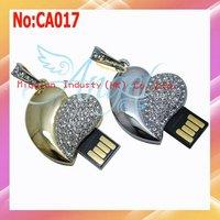 Wholesale 1GB 2GB 4GB 8GB 16GB 32GB 64GB USB Flash Drive ,heart USB Flash Drive with 1 year warranty #CA017