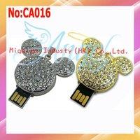 Wholesale1GB 2GB  4GB 8GB 16GB 32GB 64GB usb drive, Mickey USB Flash Drive,Crystal usb flash memory drive #CA016