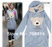 2014 women's fashion litter bear hoodies sweatshirts Free Shipping 1W5